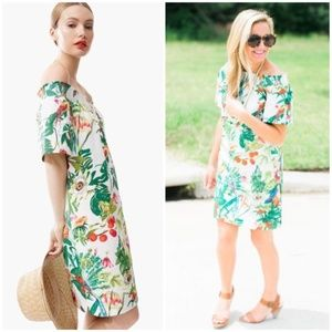 J. CREW Ratti Into The Wild Tropical Print Dress 4